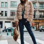Blake Faux Fur Jacket Short Nude